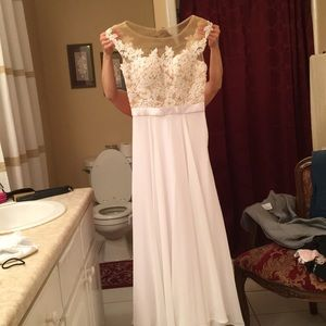 a formal long dress, worn once